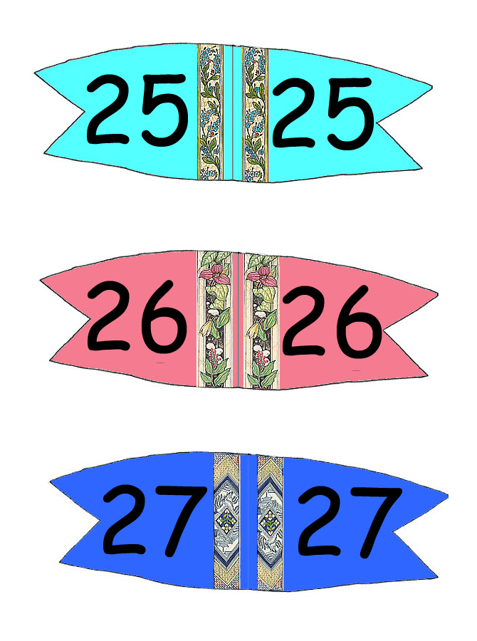 Toothpick Number Flags 25 - 27