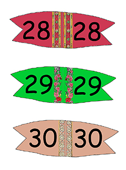 Toothpick Number Flags 28 - 30