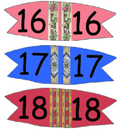 Toothpick Number Flags 16-18