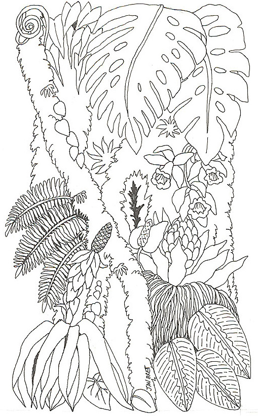 tree trunk coloring page - umbrella coloring mural tree trunk 2 reverse