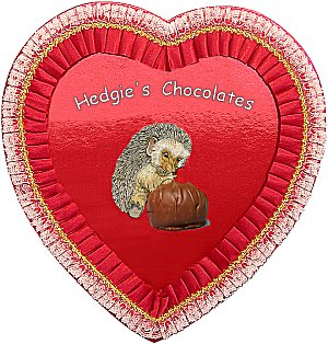 Hedgieu0027s Fat Free Chocolates, Jan Brett Valentine Selections