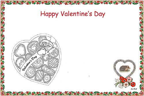 Valentine's Day Coloring Place Mat