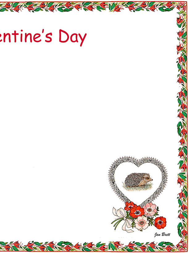 Valentine's Day Coloring Place Mat Right Side