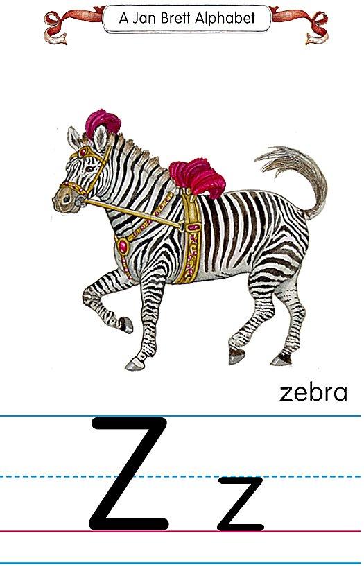 Image result for jan brett the letter z